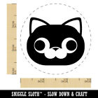 Round Cat Face Derpy Rubber Stamp for Stamping Crafting Planners