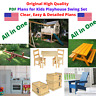 Kids Playhouse Swing Set Detailed Woodworking Plans (BluePrints) in P/D/F