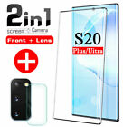 6d Tempered Glass Full Cover Lens Screen Protector For Samsung Galaxy S20 Ultra*