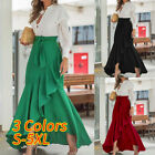 Внешний вид - Women Summer Beach Party Long Maxi Skirt High Waist Flare Swing Ruffle Dress NEW