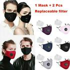 Cotton Unisex Reusable Anti Dust Washable Mouth Pm2.5 Flitter Us Stock |pery