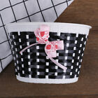 Bicycle Basket Front Bag Bike Bowknot Front Basket For Children Girl cycling_jn