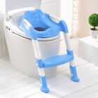 Adjustable Baby Kids Potty Toilet Trainer Seat Foldable Step Stool Ladder Chair image