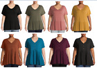 Terra & Sky Women's Plus Size Short Sleeve Crewneck T-Shirt,Tee and Top