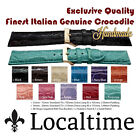 Exclusive Quality Finest Italian Handmade Genuine Crocodile Watch Straps 12-20mm