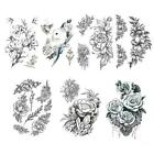 Womens Removable Waterproof Temporary Flower Tattoo Legs Arm Art Body B3o9