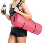 Yoga Mat for Pilates Gym Exercise 15mm Thick Carry Strap Large Comfortable NBR