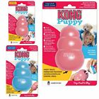 KONG Puppy Classic Dog Chew Toy Treat Dispensing Teething Aid Pink Blue Rubber