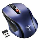 6 Button 2.4G Optical Wireless Gaming Mouse Mice USB Receiver for PC MAC Laptop