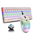 US Ajazz AK33 Rainbow Backlit Gaming Mechanical Keyboard + RGB Lightweight Mouse
