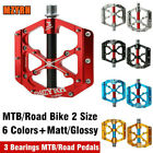 Mzyrh MTB Mountain Road Bike Pedals Cycling Bicycle Flat 3 Bearing Pedals 9/16