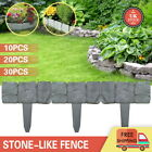 Lawn Boarder Plastic Fence Stone Effect Hammer In Lawn Garden Decorative Edging