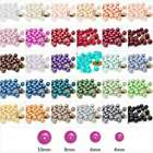 200Pcs 30 Colours 4mm Glass Round Pearl Loose Spacer Beads Wholesale F Necklace
