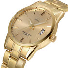 Luxury Men's Stainless Steel Band Casual Analog Quartz Gold Wrist Watches Gift