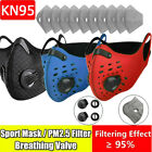 Air Purify Washable Reusable Cycling Face Mask & 10 Respirator Carbon Filter Pad