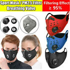 Sports Reusable Face Cover with Valve & 3/4/5 Layer Activated Carbon Filter Pads