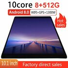 Android 8.0 WIFI/4G-LTE 8+512GB Tablet 10.1inch Pad 10 Core GPS Dual Camera
