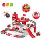 Kids Military Race Tracks DIY Parking Garage Toy Set Toggle Switch Music Button