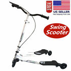 Swing Scooter 3Wheel Wiggle Scooter Adjustable Tri Slider Foldable Push Drifting