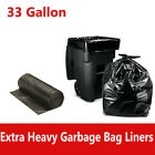 33 Gallon Garbage Bags Xtra Heavy Duty Trash Bag Liners  - Black, Up to 100/Case