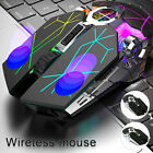 Wireless Mouse Led Laser Usb Optical Game Gaming Rechargable Silent Laptop Pc Au