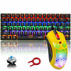 Mechanical Gaming Keyboard Rainbow LED Backlit and RGB Lightweight Mouse Combo