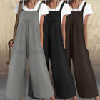 Womens Strap Wide Legs Overalls Jumpsuit Casual Loose Romper Playsuit Long Pants