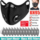 1pcs Outdoor Cycling Face Cover With Breath Valve Activated Carbon Filters Pad