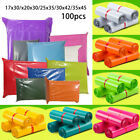 100PCS COLOURED STRONG Polythene  MAILING BAGS POSTAGE POSTAL QUALITY SELF SEAL