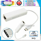 USB-C/TYPE-C to ETHERNET LAN internet Cable Adapter RJ45 MACbook & TypeC Devices