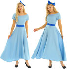 Princess Women  s Dress Costume Halloween Cosplay Party Clothes Fancy Maxi Dress