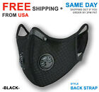 Cycling Sport Face Mask With Active Carbon Filter Breathing Valves Washable