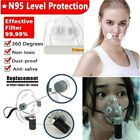 Transparent Face Masks Reusable Mouth Cover Filters Respirator With Filters Pad