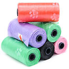 15PCS/Roll Large Strong Dog Poo Bags Eco Friendly Degradable Paw Garbage Gag