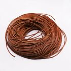 2/5M Cow Leather Round Thong Cord DIY Bracelet Rope String for Jewelry Making F