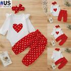 Kyпить Newborn Baby Girls Clothes Polka Dot Romper Bodysuit+Pants Headband Outfits Sets на еВаy.соm