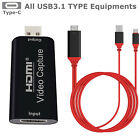 HDMI to USB2.0 Video Capture Card 1080P Recorder Phone Game/Video Live Streaming