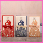 Wedding Invitations Greeting Cards Envelopes With Ribbon 25pcs Laser Cut Cards