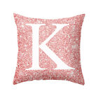 Cushion Cover Velvet LetterA-Z Pillow Case Polyester Waist Throw Home Sofa