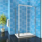 New8mm Shower Enclosure Sliding Door Cubicle Side Panel and Tray Easyclean Glass