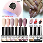 LILYCUTE 7ml 10Pcs/Kit Nail UV Gel Polish 54W Nail Dryer Nail Art Base Top Coat
