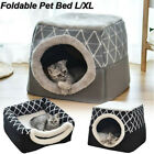 Pet bed for Cats Dogs Soft Nest Kennel Bed Cave House Sleeping Mat Pet Cozy Tent