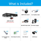 Zoohi Home 1080P CCTV Security Camera System Outdoor 4/8CH 1/2TB HDD Wired IR HD