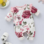 Kyпить Infant Baby Girls Romper Tops Jumpsuit Floral Pants Headband Clothes Outfits Set на еВаy.соm