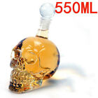 Crystal Skull Head Whiskey Vodka Wine Decanter Bottle Glass Beer Spirit