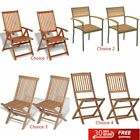 2x Outdoor Wooden Garden Dining Chairs Patio Dinner Seats Modern Furniture