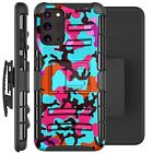 Holster Case For Galaxy Note20/ Note 20 Ultra 5G Phone Cover - TEAL STYLISH CAMO