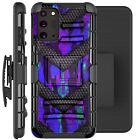 Holster Case For Galaxy Note20 / Note20 Ultra 5G Phone Cover - PURPLE CAMO BADGE