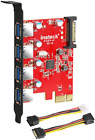 Inateck PCI-e to USB 3.0 (4 Ports) PCI Express Card and 15-Pin Power Connector,