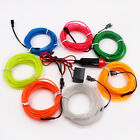 5M 12V Car Charging Luminescent Neon LED Lights Glow EL Wire String Strip Rope